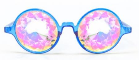 Blue Framed Kaleidoscope Glasses