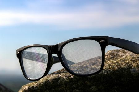 Black Diffraction Glasses - Spiral Lenses