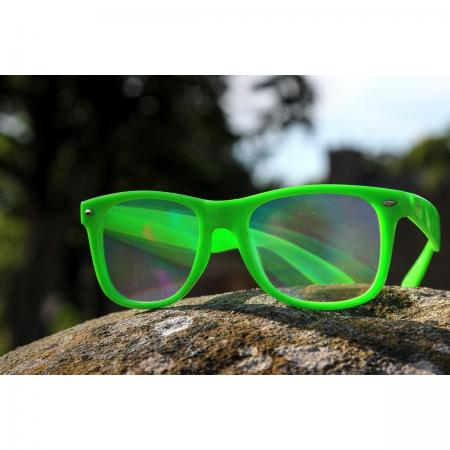 Green Diffraction Glasses - Rainbow Lenses