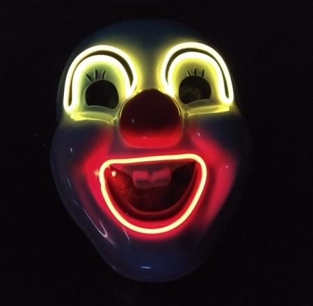LED Clown Mask Light Up Costume Scary