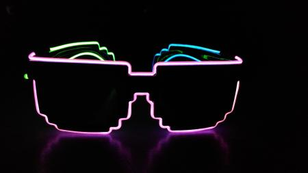 LED Glasses - Tri Colour Pixel