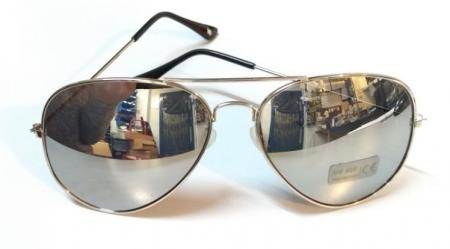 Aviator Shades Sliver Sunglasses Sunnies