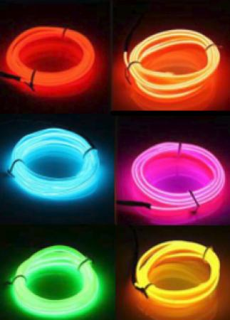LED Neon Wire Lights - 1-2m in various colours