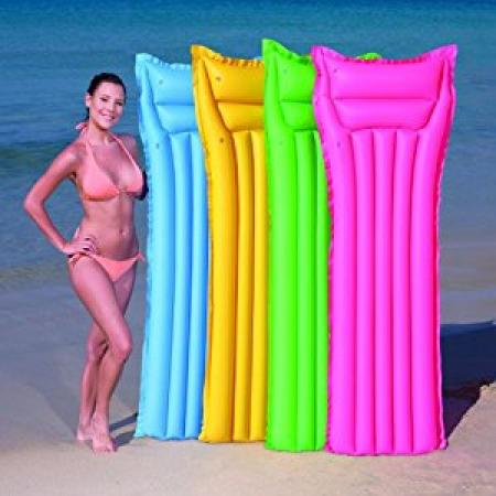 Inflatable Lilo Matte Finish Air Bed for Swimming Pool, Beach, Lounging