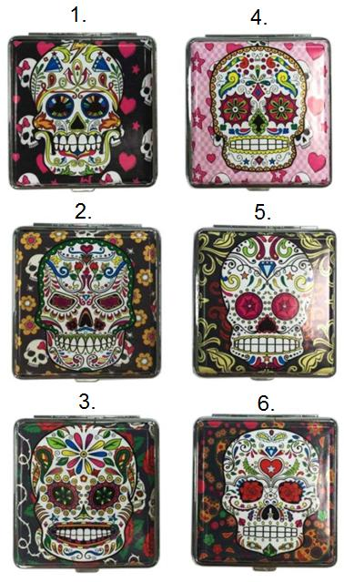 Atomic Cigarette Case La Catrina Candy Skull colourful design