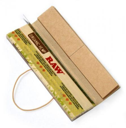 Raw Connoisseur Organic King Size Slim Papers with Tips 24 Pack (Full Box)