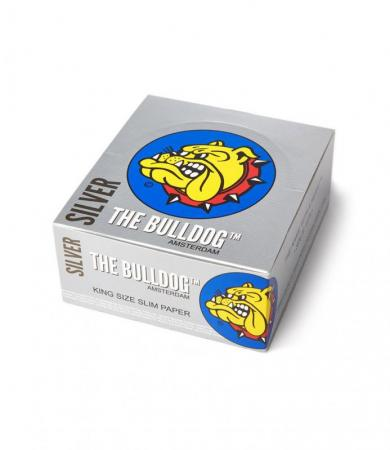 Bulldog Silver King Size Slim Rolling Papers 25 or 50 Booklets