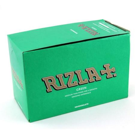 Rizla Green Regular Rolling Papers Full Box of 100 Booklets