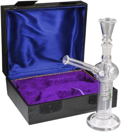 Glass Spiral Bong in Display Box