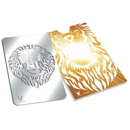Credit Card Style Grinder Card - Roaring Lion