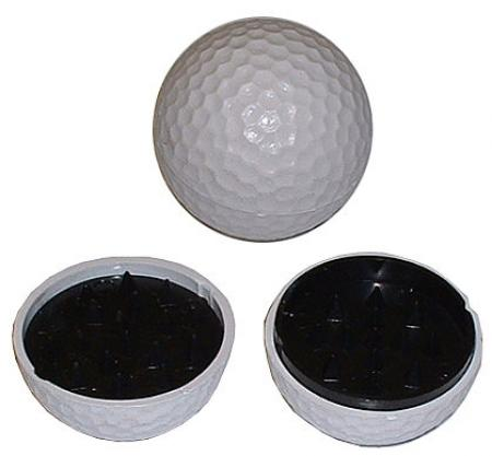 Golf Ball Shark Tooth Plastic Herb Grinder 45mm