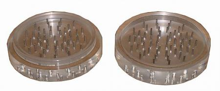 Acrylic Pin Tooth 2 Part Herb Grinder 100mm