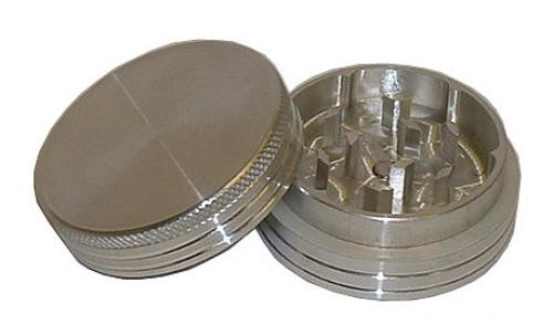 Basil Metal Herb Grinder 2 Part Aluminium With Magnet In Various Sizes Small-Large