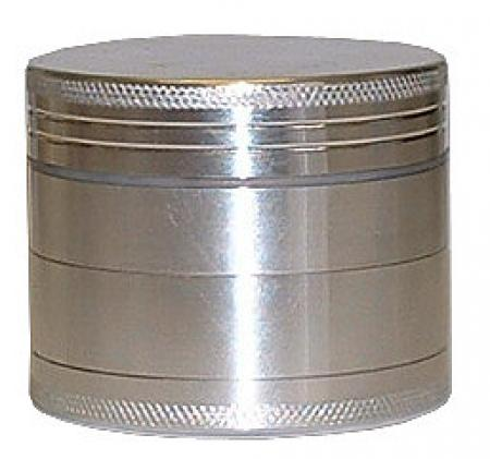 Basil Bush Metal Herb Grinder 4 Part Aluminium with Magnet in various sizes small-large