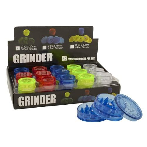 Small Pocket Grinder 20mm 3part various colours