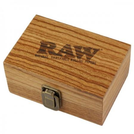 RAW  Wooden Stash Smokers Box with two compartments.