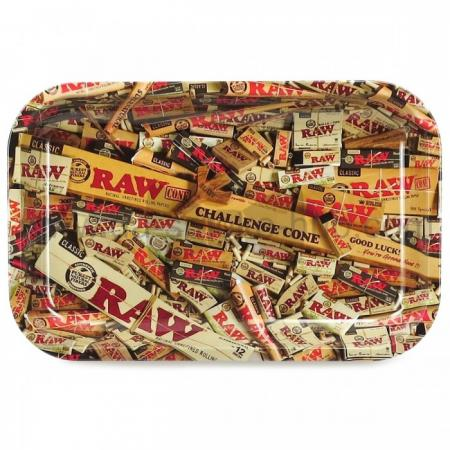 RAW Branded Metal Rolling Tray - Raw Mix Medium  (28cm x 18cm)