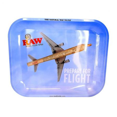 RAW Flying High Branded Metal Rolling Tray