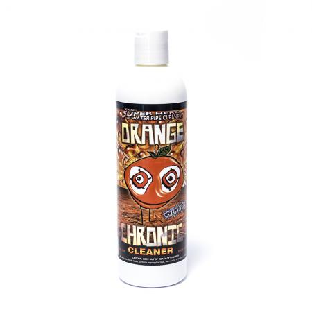 Orange Chronic Pipe Cleaner Anti-Bacterial White 12oz 355ml