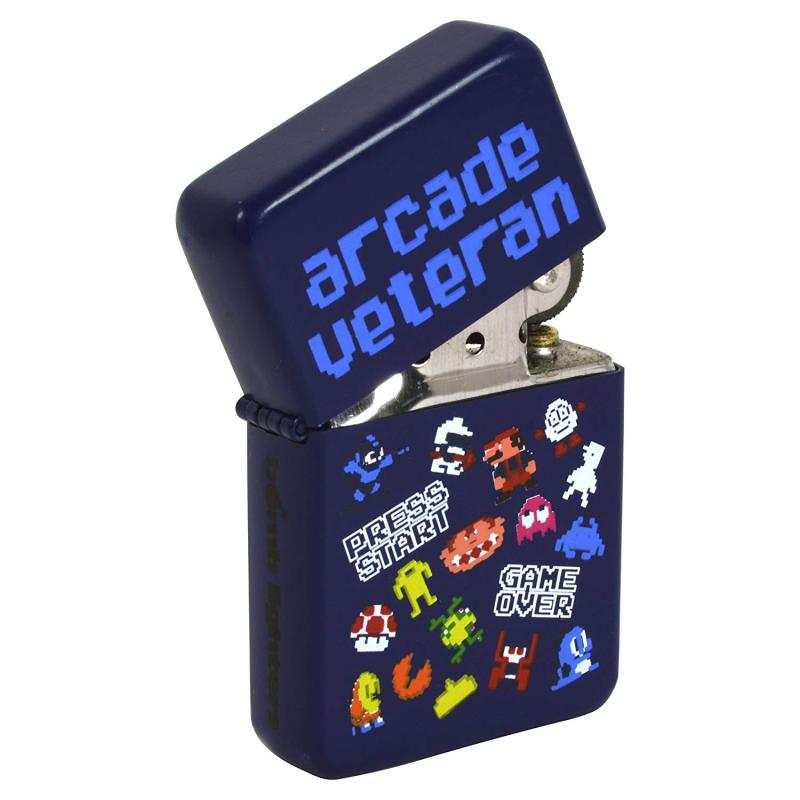 Arcade Bomb Lighter Computer Games Retro Windproof