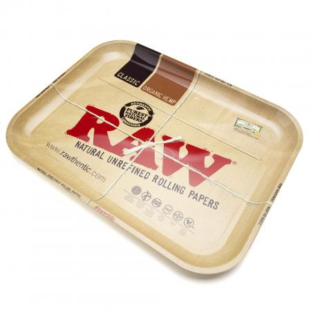 RAW Branded Metal Rolling Tray - Large (34cm x 28cm)