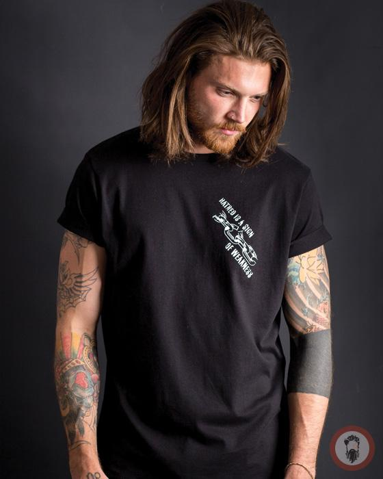 Hatred is a sign of Weakness Tee - Black