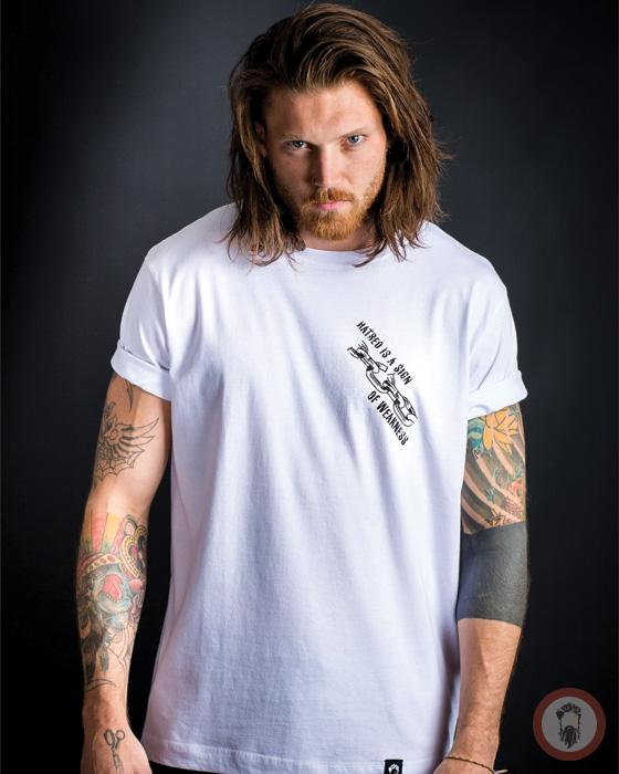 Hatred is a sign of Weakness Tee - White