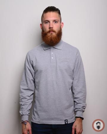 Long Sleeve Polo Shirt - Grey