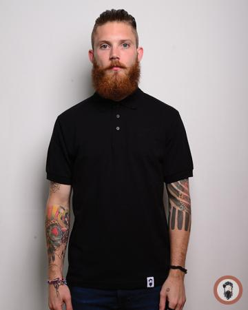 Short Sleeve Polo Shirt - Black