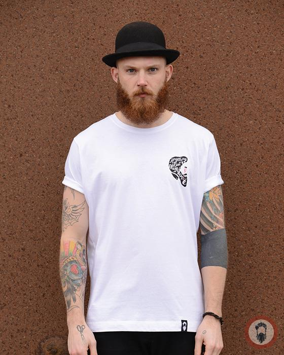 Beard Man Tee - White