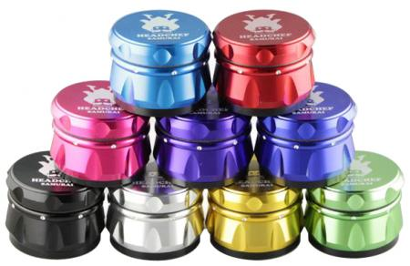 Head Chef Samurai 55mm 4 Part  Metal Grinder