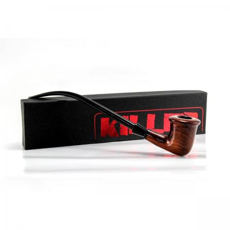 Killer Wooden Sherlock Peace Pipe 12 inch Churchwarden Style 0324