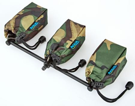 Aqua Set of 3 Camo Alarm Pouches