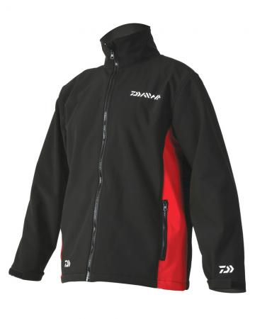 Daiwa Black/Red Softshell Jackets