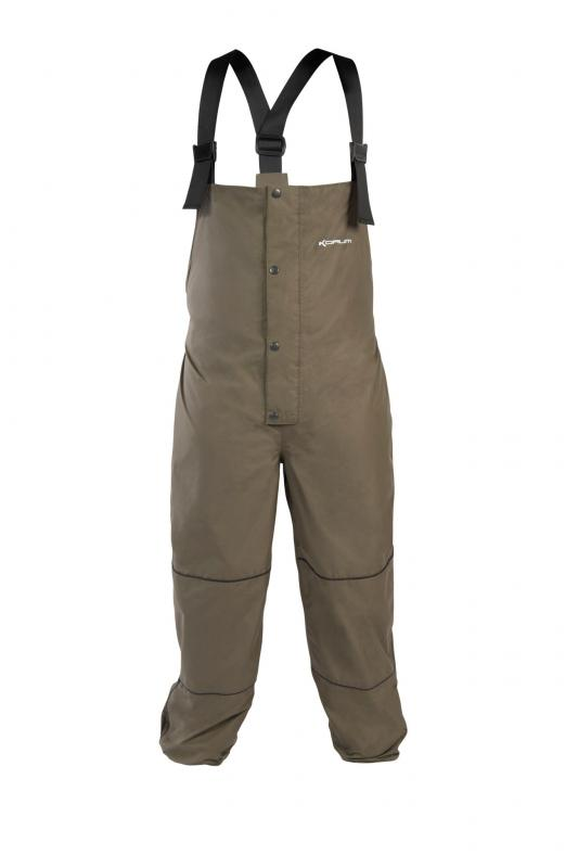 Korum waterproof bib brace 2017 ted carter for Waterproof fishing bibs