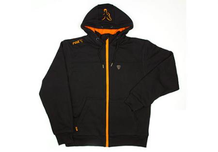 Fox Black / Orange Heavy Lined Hoody
