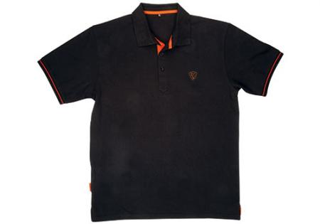 Fox Black / Orange Polo Shirt