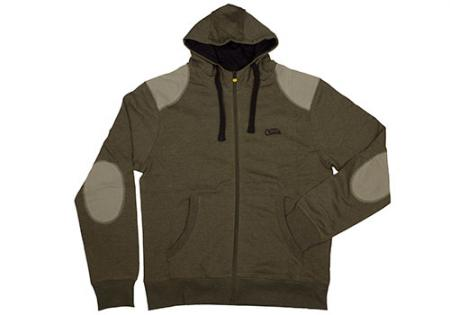 Fox Lightweight Zipped Hoody Khaki