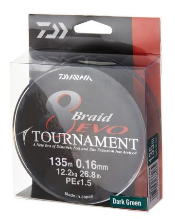 Daiwa Tournament Evo 8 Braid 135m Dark Green