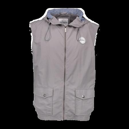 Aqua High Neck Grey Hoody Gilet