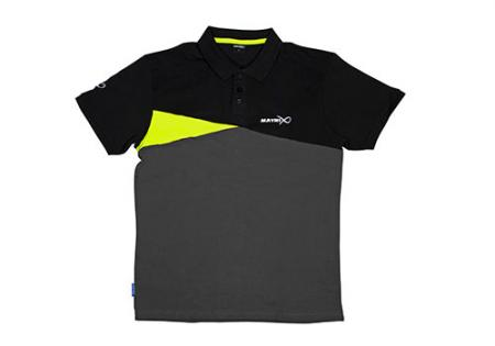 Matrix Polo Shirt Black/Grey