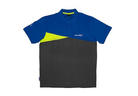 Matrix Polo Shirt Blue/Grey