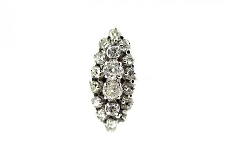 18ct Art Deco Diamond Cluster Dress Ring (0618)