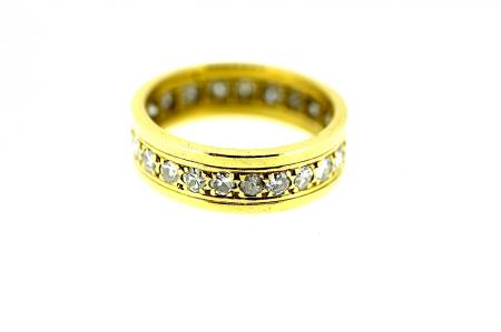 18ct Full Diamond Eternity / Wedding Ring (0383)