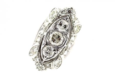 14ct Art Deco Diamond Dress Ring (1278)