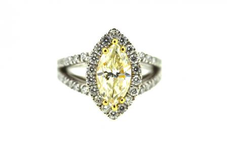 18ct 2ct Fancy Yellow Diamond Solitaire (1256)