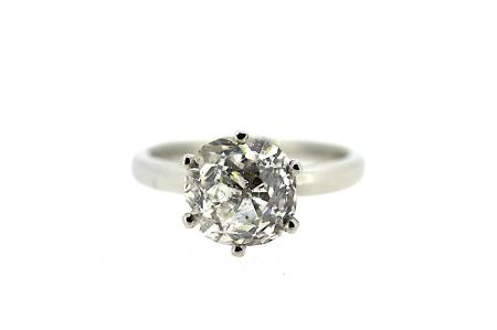 Platinum 3.21ct Diamond Solitaire Ring (1279)