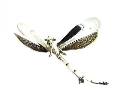 Vintage Sterling Silver Dragonfly Brooch