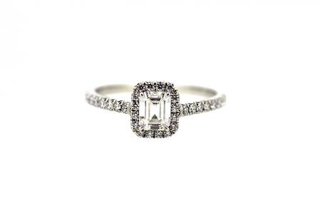 Platinum Tiffany & Co 0.42ct Diamond Cluster Ring (C0217)