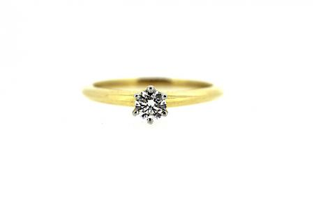 Tiffany & Co 18ct & Platinum 0.28ct Diamond Solitaire Ring (C0216)